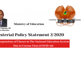 PNG Education Department-Suspension of Classes in PNG