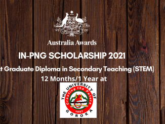 Australia Awards in png scholarship Post Graduate diploma in Secondary Teaching.