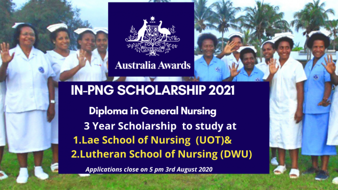 Australa Awards In-PNG Scholarships for Diploma in General Nursing