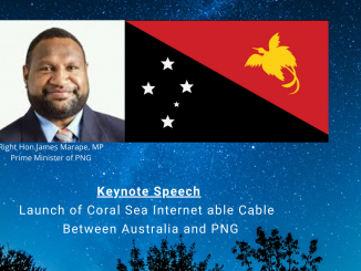 Launch of Coral Sea Cable