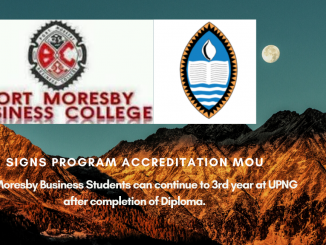 Port Moresby Business Colleges Signs MOU with UPNG