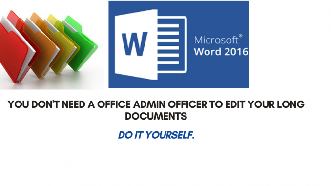 Easily get navigation around a long word document.