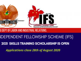 PNG Dept of Labour and Industrial Relations Independent Fellowship Scheme
