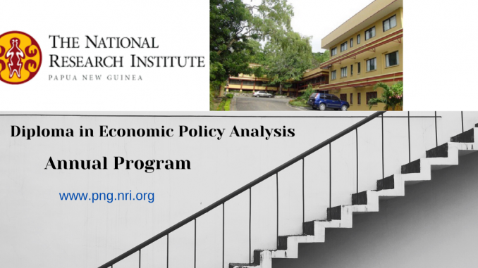 PNG NRI Diploma Certificate in Economic Policy Analysis
