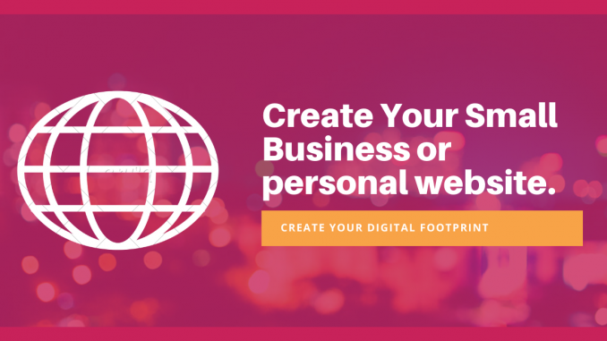 Create a small business in website in PNG