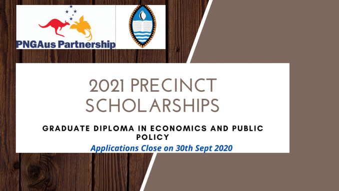 PNGAus Partnership Precinct Scholarships, Graduate Diploma in Economics and Public Policy