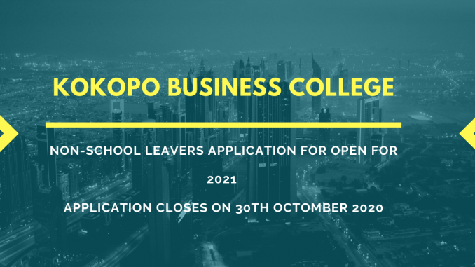 Kokopo Business College Application