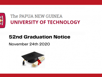 52nd PNG University of Technology Graduation