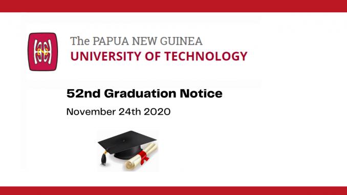 52nd PNG University of Technology Graduation