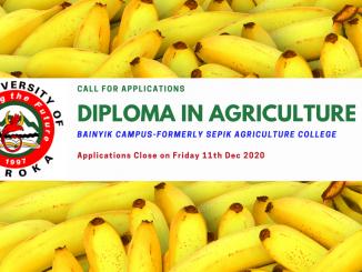 Diploma in Agriculture-Bainyik Campus UOG Maprik East Sepik Province