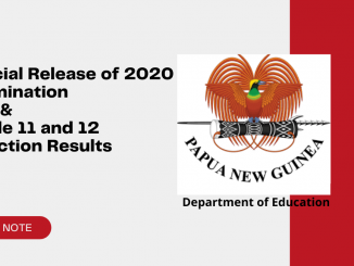 Release of Grade 10 and Grade 12 Results 2020