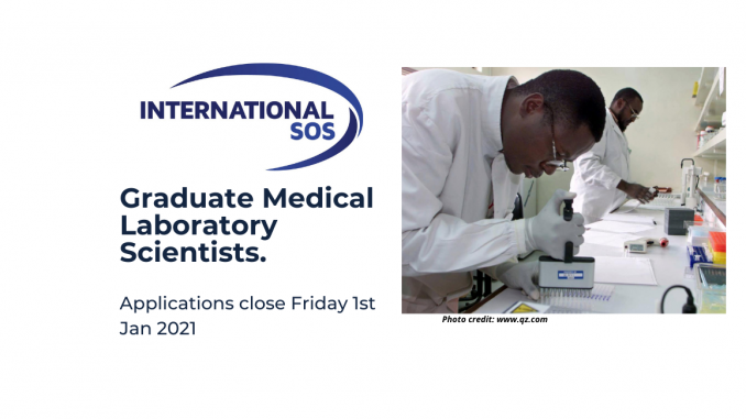 SOS International Graduate Medical Laboratory Scientists to work in Lihir