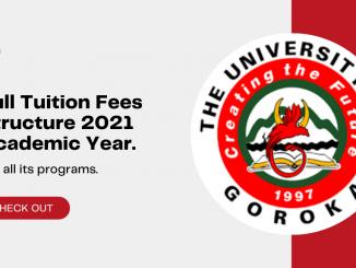 UOG Fees for 2021 School year