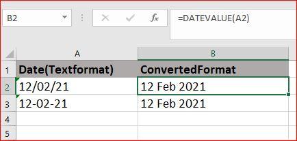 Excel DateValue Function