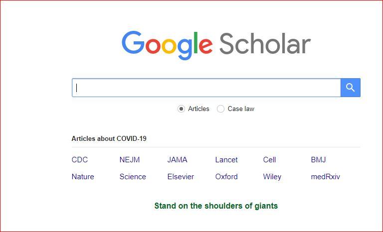 Google Scholars Search
