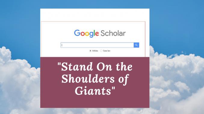 Google Scholar Slogan