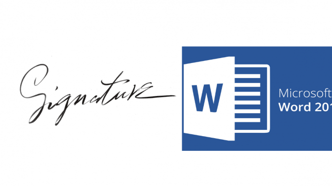 Sign off electronically in Word