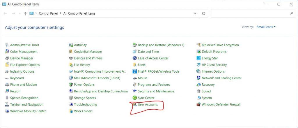 Add User Accounts in Windows 10