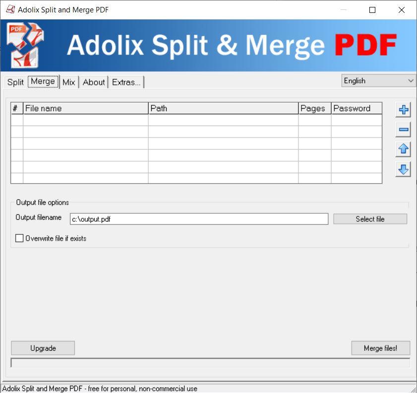 combine or spillt pdf files